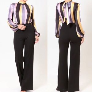 179a421713a PRICE IS FIRM lavender stripe jumpsuit